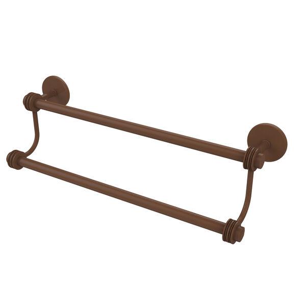 24 Inch Double Towel Bar, Antique Bronze, image 1