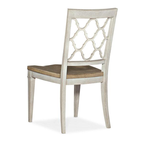 Montebello Danish White and Carob Brown Side Chair, image 2