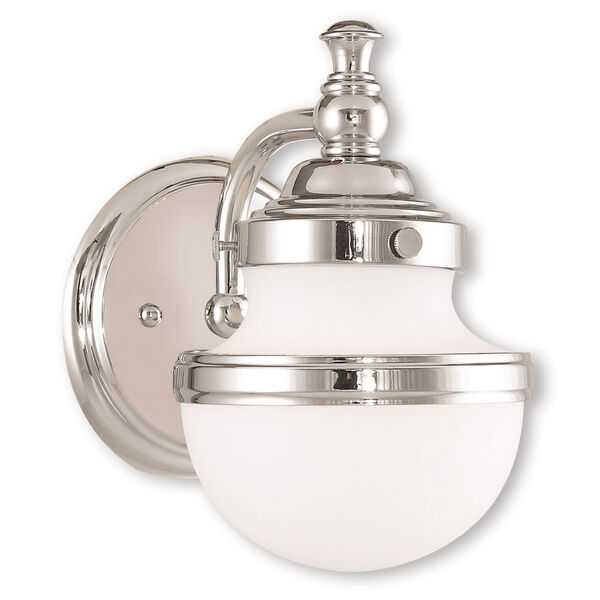 Oldwick Polished Chrome One-Light 5.5-Inch Bath Vanity, image 1