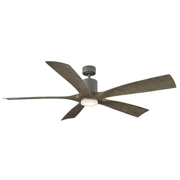Aviator Graphite and Weathered Gray 70-Inch ADA LED Ceiling Fan, image 4