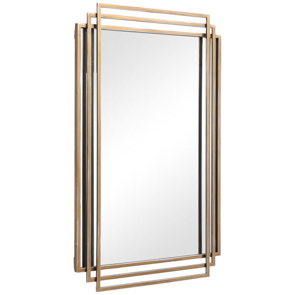 Amherst Brushed Gold Mirror, image 6