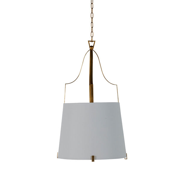 Arbella Vintage Gold and White Two-Light Pendant, image 3