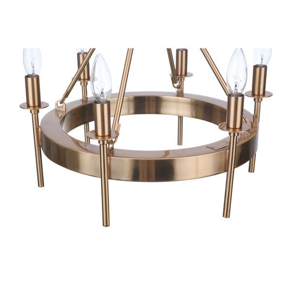 Larrson Satin Brass Six-Light Semi Flush, image 5