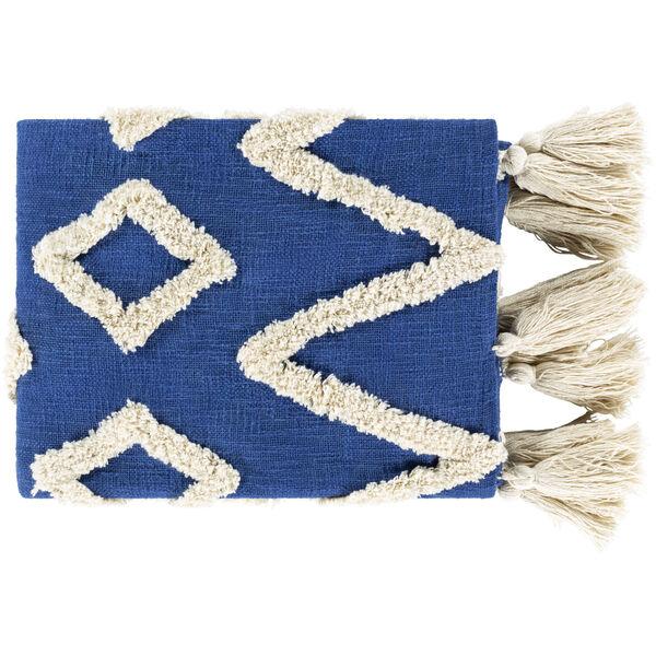 Tut Dark Blue Beige 37 x 60 Inch Throw, image 1