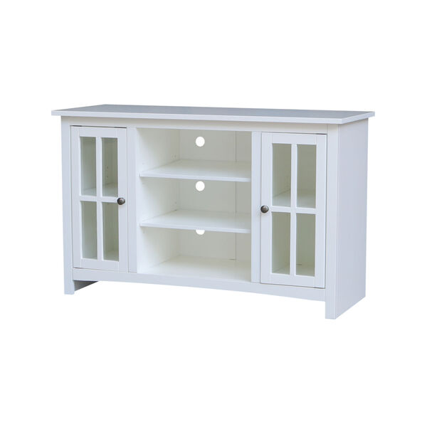 White 48-Inch TV Stand with Two Door, image 2