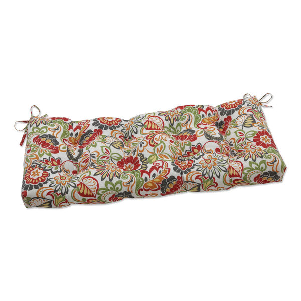 Zoe Green Red 48-Inch Bench Cushion, image 1