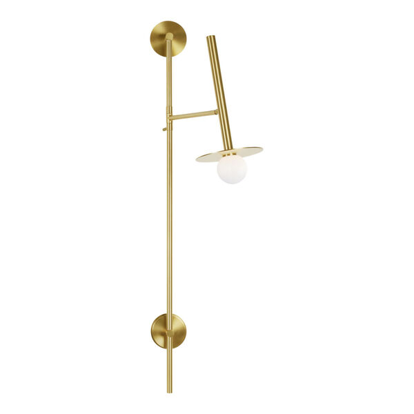 Nodes Burnished Brass 8-Inch One-Light Wall Sconce, image 4