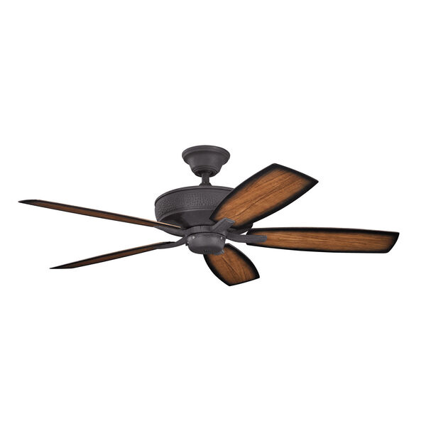 Monarch II Patio Distressed Black Indoor and Outdoor Ceiling Fan, image 1