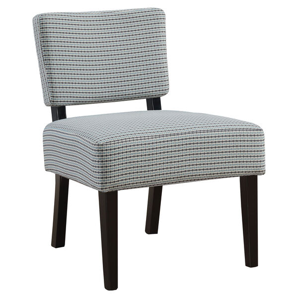 Light Blue and Gray 32-Inch Abstract Dot Fabric Accent Chair, image 1