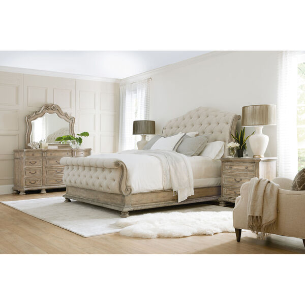 Castella Brown Tufted Bed, image 5
