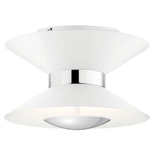 Kordan Matte White 14-Inch 11-Light LED Semi Flush Mount, image 1