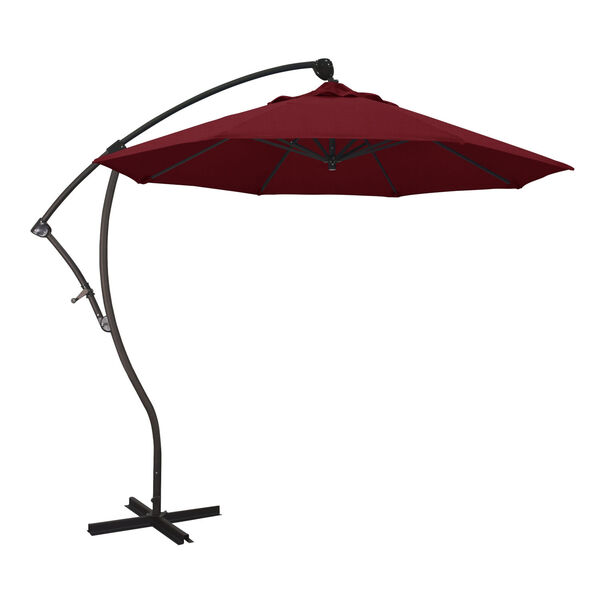 Bayside Bronze with Spectrum Ruby Nine-Feet Sunbrella Patio Umbrella, image 1