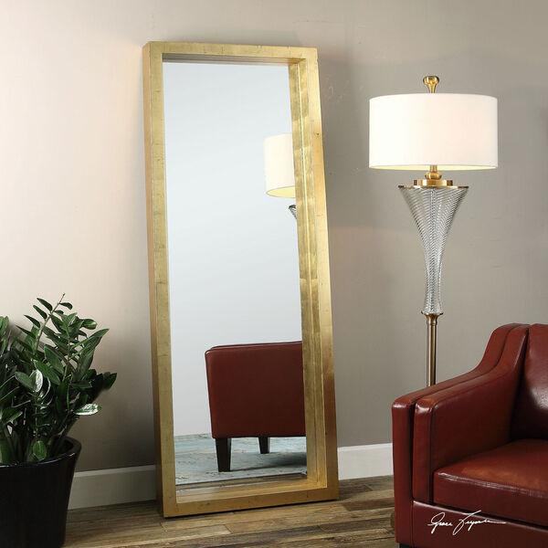 Edmonton Gold Leaner Mirror, image 1