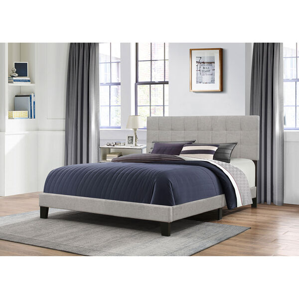 Delaney King Bed in One - Glacier Gray Fabric, image 1