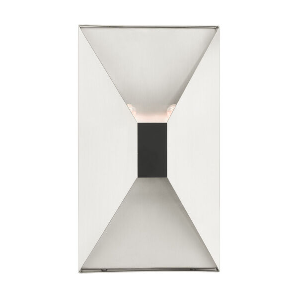 Lexford Brushed Nickel Two-Light ADA Wall Sconce, image 1