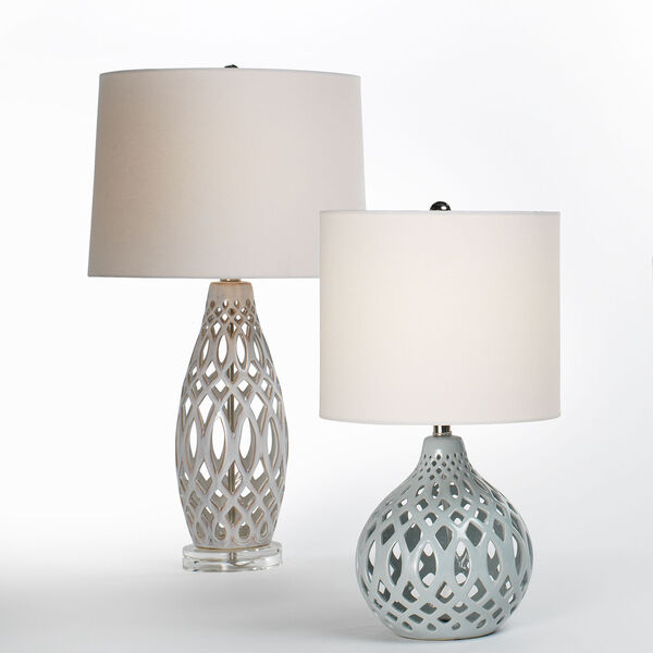 Cora Cream and White One-Light Table Lamp, image 3
