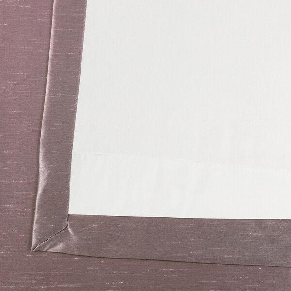 Smoky Plum Vintage Textured Faux Dupioni Silk Single Panel Curtain, 50 X 108, image 6
