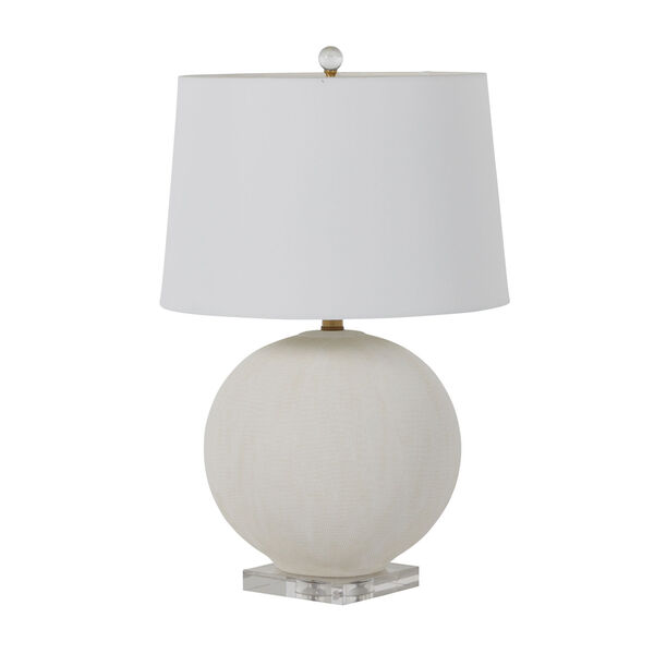 Wheeler White and Antique Brass One-Light Table Lamp, image 1