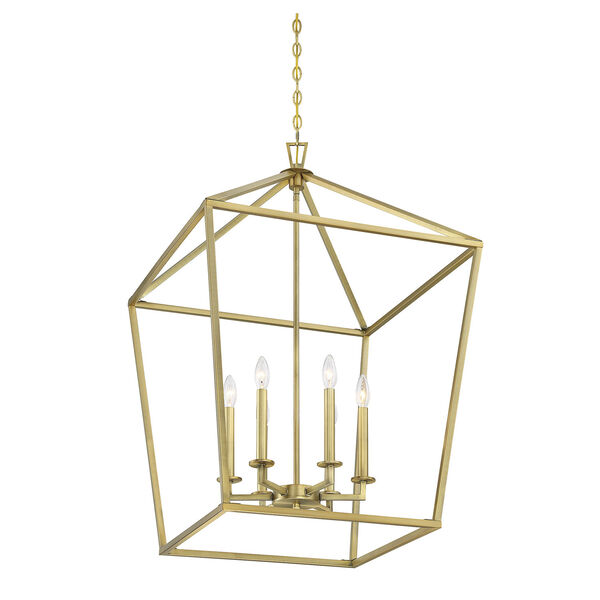Townsend Warm Brass Six-Light Pendant, image 4