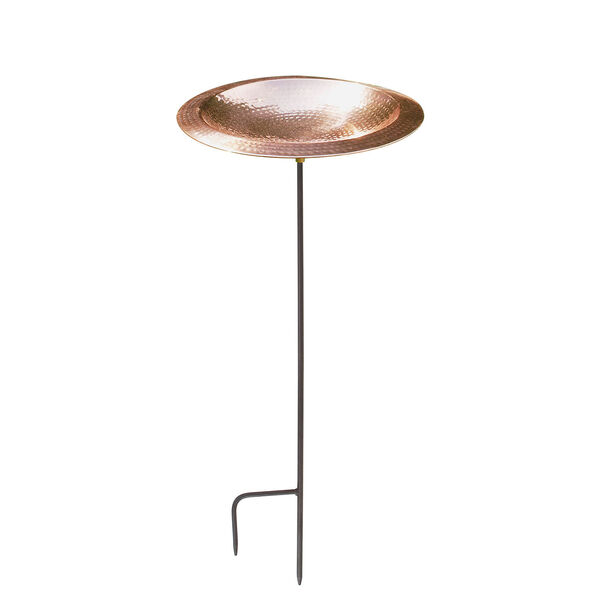 Hammered Copper Bowl with stand, image 1