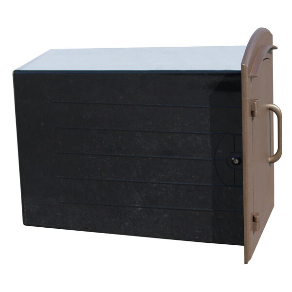 Manchester Black Security Option with Decorative Scroll Door Manchester Faceplate - (Open Box), image 5