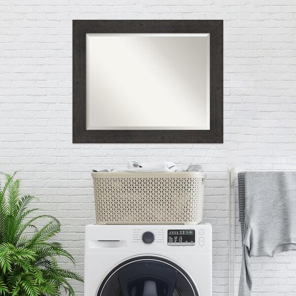 Espresso Frame 33W X 27H-Inch Bathroom Vanity Wall Mirror, image 5