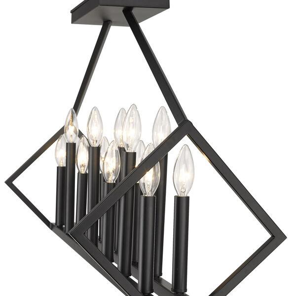 Luca Matte Black 14-Light Pendant, image 5