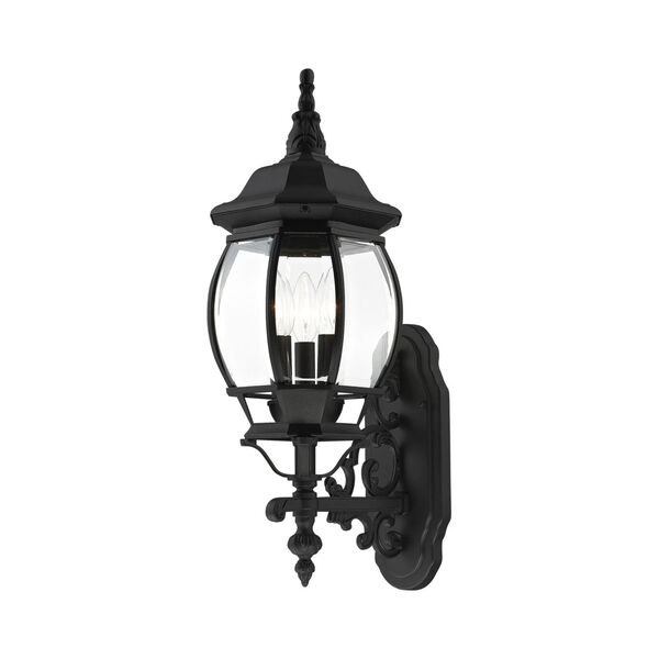 Frontenac Textured Black 22-Inch Three-Light Outdoor Wall Sconce, image 1