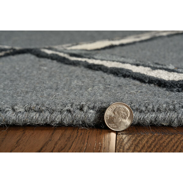 Libby Langdon Upton Charcoal and Silver Rectangular: 8 Ft. x 10 Ft. Rug, image 3
