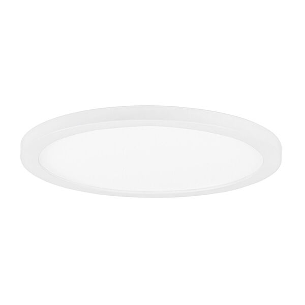 Chip White 7-Inch Led One-Light Flush Mount with Polycarbonate Shade, image 1