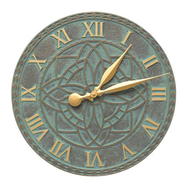 Artisan Bronze Verdigris Indoor Outdoor Wall Clock, image 1