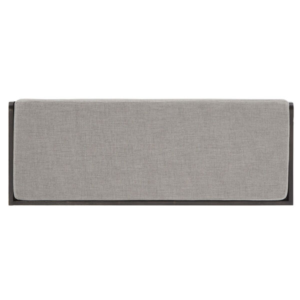 Potter Black Storage Bench with Linen Seat Cushion, image 5