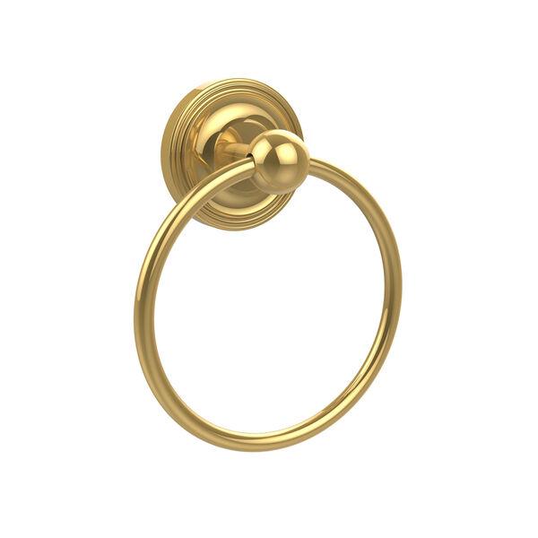 Prestige Regal Polished Brass Towel Ring, image 1