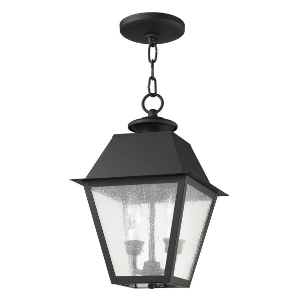 Mansfield Black Two-Light Outdoor Pendant, image 3