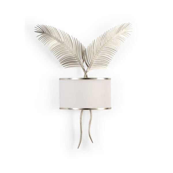 Silver Two-Light Palm Wall Sconce, image 1