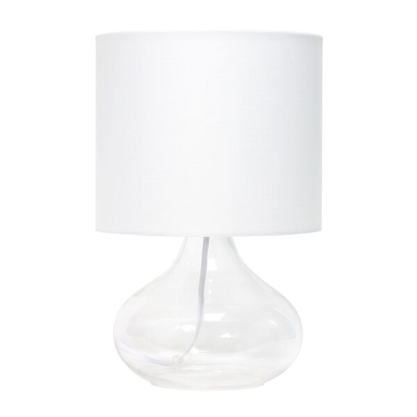 Cerise Clear White One-Light Raindrop Table Lamp, image 1