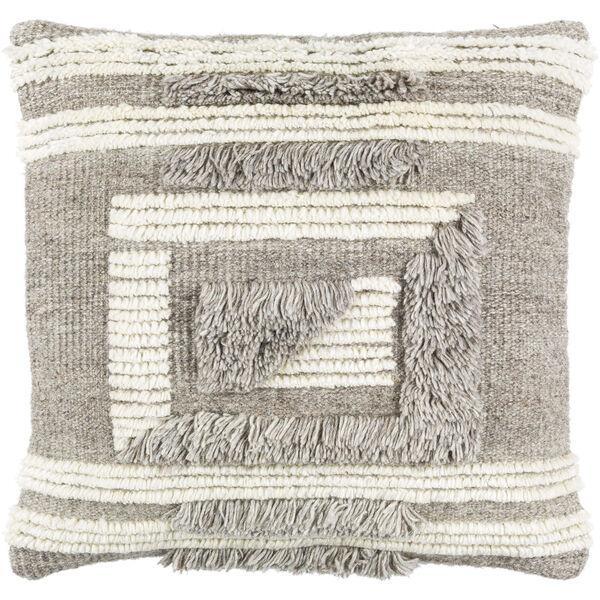 Baracoa Beige, Medium Gray and Tan 22-Inch Pillow , image 1