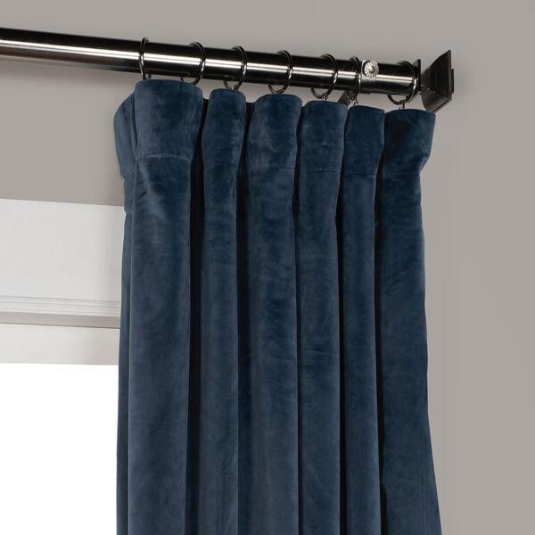 Blue 108 x 50 In. Plush Velvet Curtain Single Panel, image 7