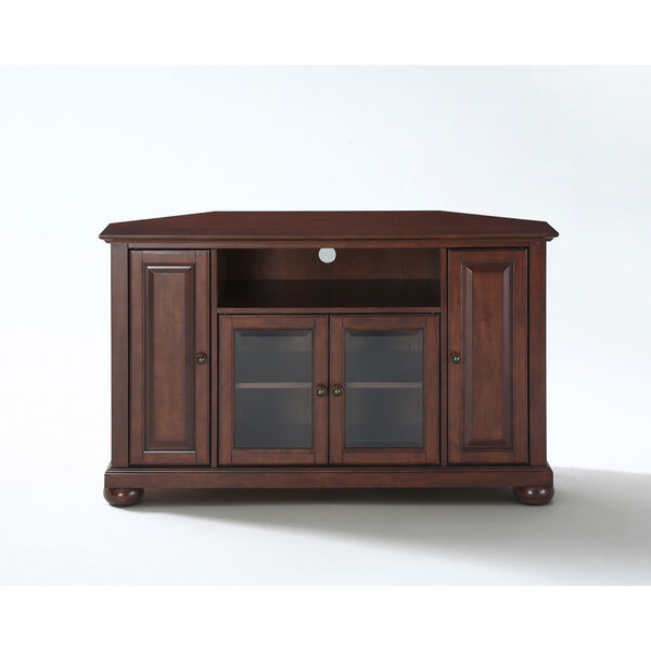 Alexandria 48-Inch Corner TV Stand in Vintage Mahogany Finish, image 2