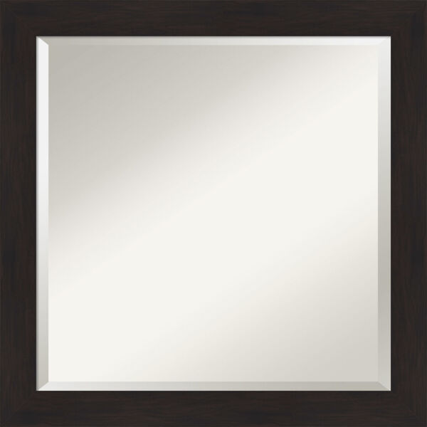 Espresso 24W X 24H-Inch Bathroom Vanity Wall Mirror, image 1