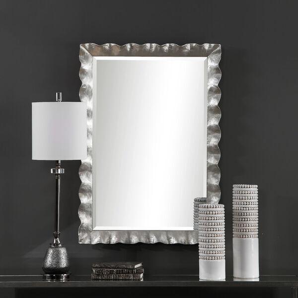 Haya Silver Leaf Vanity Mirror, image 3