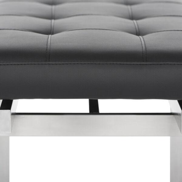 Louve Matte Black and Silver Bench, image 4