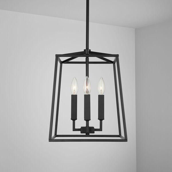 Thea Matte Black Four-Light Foyer Pendant, image 3