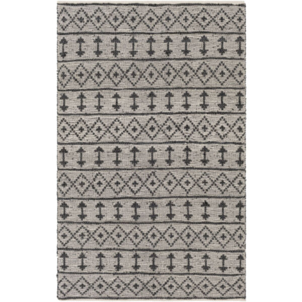 Lexington Khaki and Black Rectangular Rug, image 1