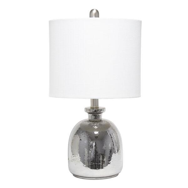 Cerise Metallic Gray White One-Light Table Lamp, image 1
