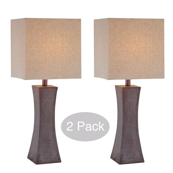 Enkel Dark Walnut Two-Light Table Lamp, Set of Two, image 1