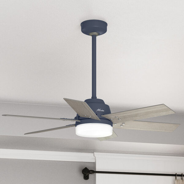 Pacer Indigo Blue 44-Inch Two-Light LED Ceiling Fan, image 5