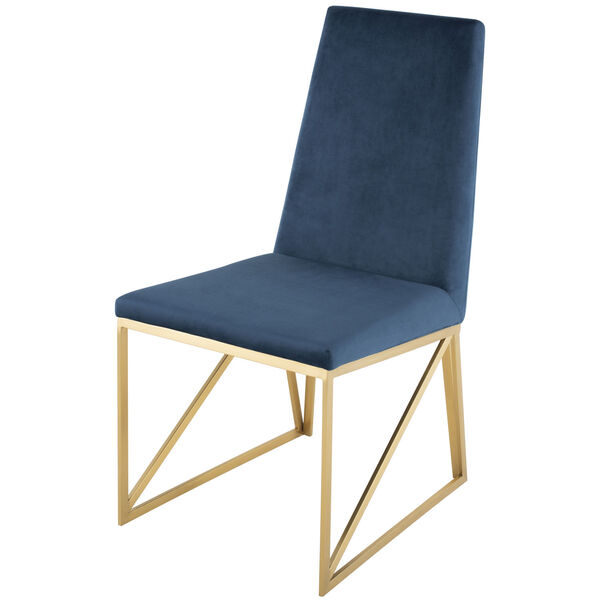 Caprice Peacock and Gold Dining Chair, image 5