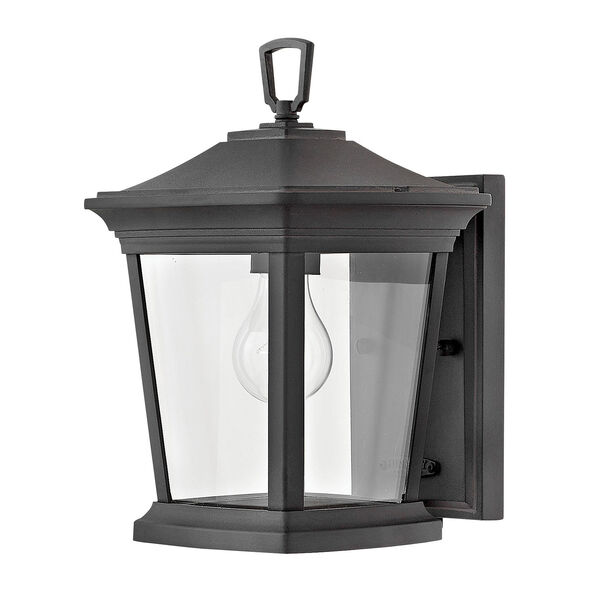 Bromley Museum Black 8-Inch One-Light Outdoor Mini Wall Mount, image 1