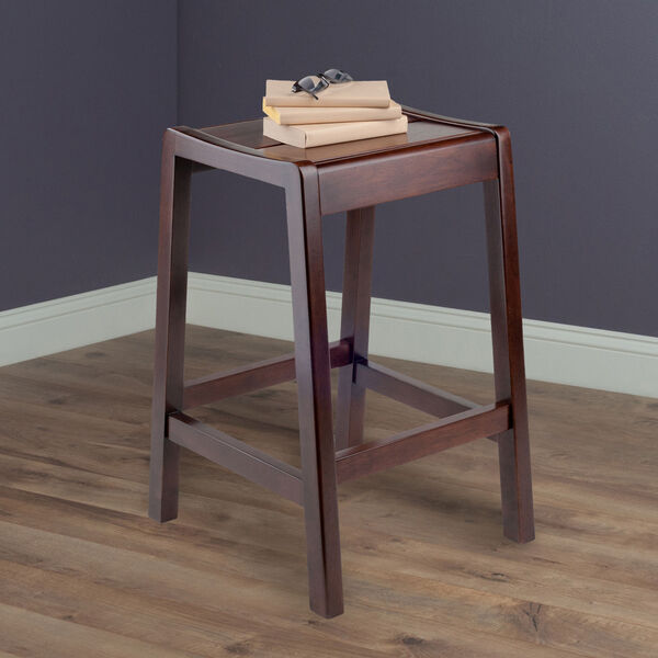Alicante Walnut Concave Seat Counter Stool, image 5